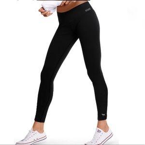 Pink Victoria's Secret ultimate black leggings